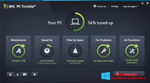 Skærmbillede AVG PC Tuneup Windows 8