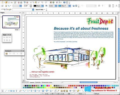 Skærmbillede Apache OpenOffice Windows 8