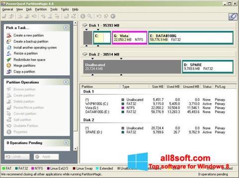 Skærmbillede Partition Magic Windows 8