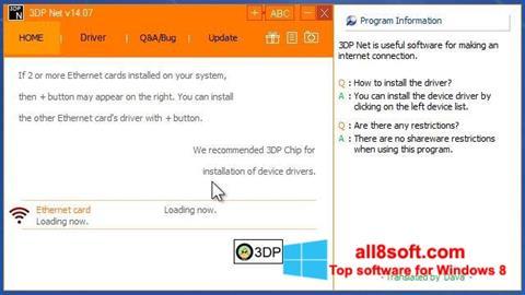 Skærmbillede 3DP Net Windows 8