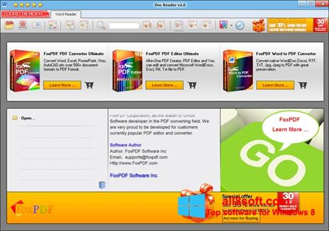 Skærmbillede Doc Reader Windows 8