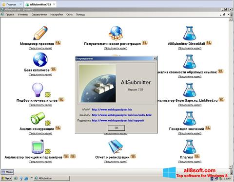 Skærmbillede AllSubmitter Windows 8