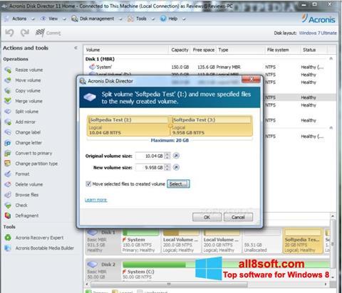 Skærmbillede Acronis Disk Director Windows 8