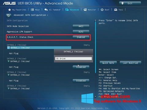 Skærmbillede ASUS Update Windows 8