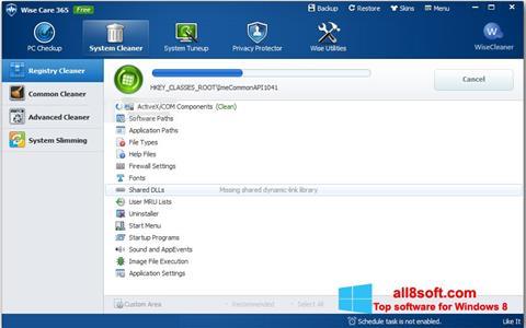 Skærmbillede Wise Care 365 Windows 8