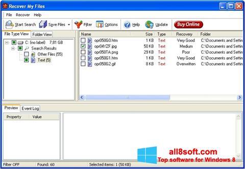 Skærmbillede Recover My Files Windows 8