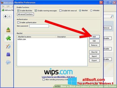 Skærmbillede uBlock Windows 8