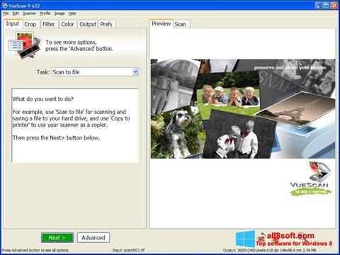 Skærmbillede VueScan Windows 8
