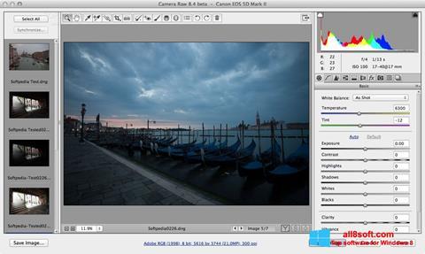 Skærmbillede Adobe Camera Raw Windows 8