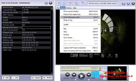 Skærmbillede FLV Player Windows 8