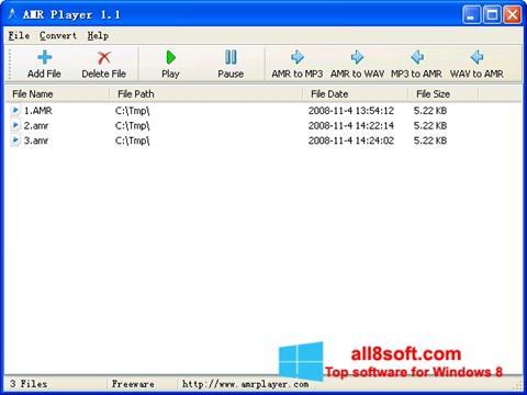 Skærmbillede AMR Player Windows 8
