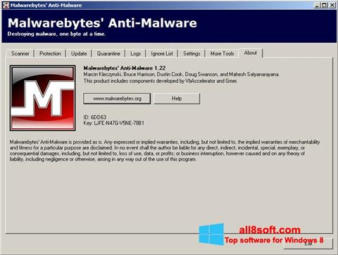 Skærmbillede Malwarebytes Anti-Malware Free Windows 8