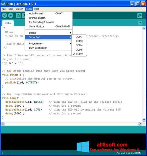 Skærmbillede Arduino Windows 8