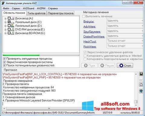 Skærmbillede AVZ Windows 8
