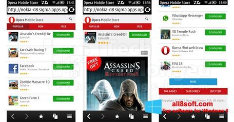 Skærmbillede Opera Mobile Windows 8
