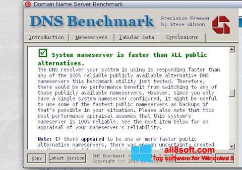Skærmbillede DNS Benchmark Windows 8