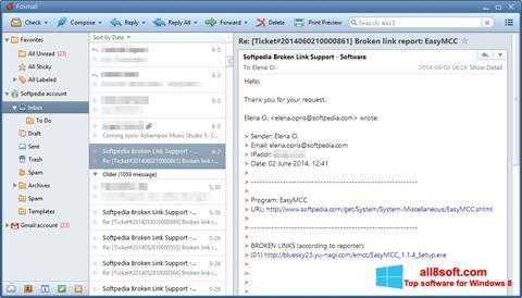 Skærmbillede FoxMail Windows 8