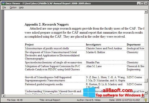 Skærmbillede DocX Viewer Windows 8