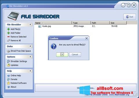 Skærmbillede File Shredder Windows 8