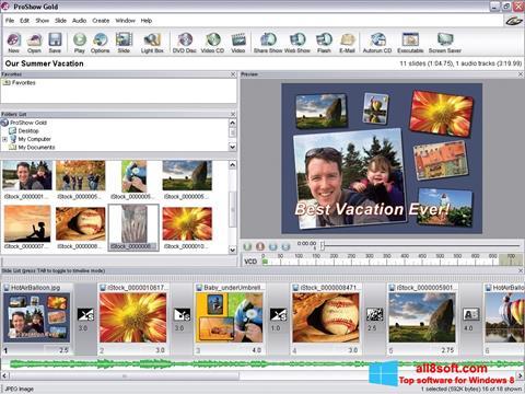 Skærmbillede ProShow Gold Windows 8