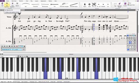Skærmbillede Sibelius Windows 8