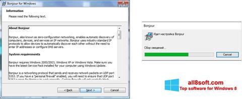 Skærmbillede Bonjour Windows 8