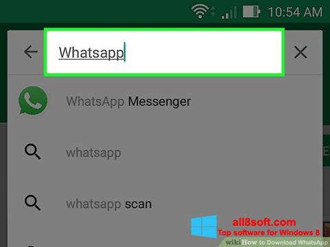 Skærmbillede WhatsApp Windows 8