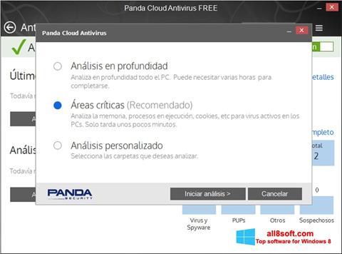 Skærmbillede Panda Cloud Windows 8