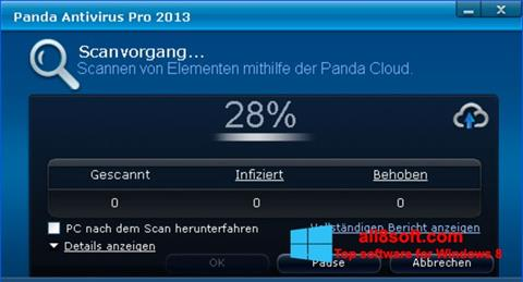 Skærmbillede Panda Antivirus Pro Windows 8