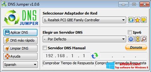 Skærmbillede DNS Jumper Windows 8