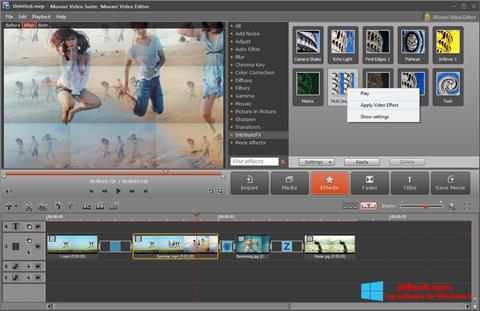 Skærmbillede Movavi Video Suite Windows 8