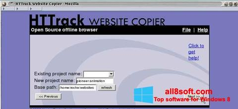 Skærmbillede HTTrack Website Copier Windows 8