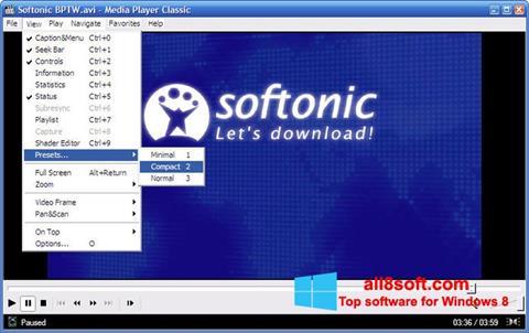 Skærmbillede Media Player Classic Windows 8