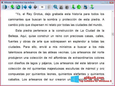 Skærmbillede FBReader Windows 8
