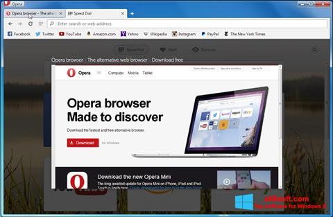Skærmbillede Opera Developer Windows 8
