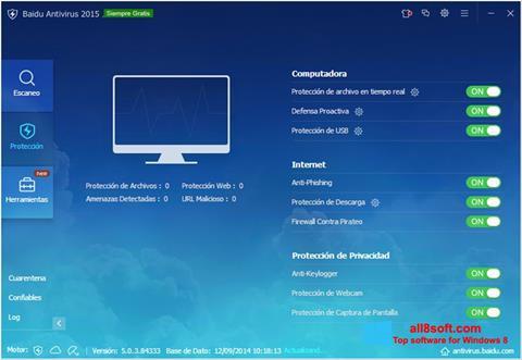 Skærmbillede Baidu Antivirus Windows 8
