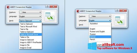 Skærmbillede ABBYY Screenshot Reader Windows 8