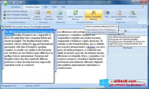 Skærmbillede PROMT Windows 8