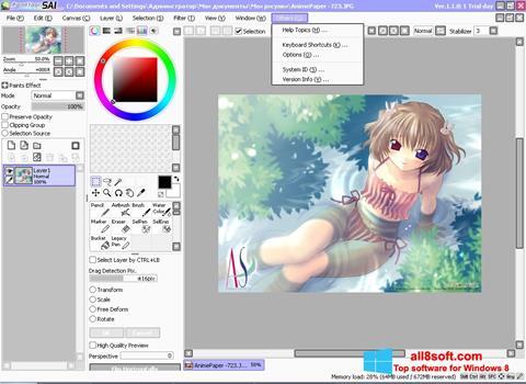 Skærmbillede Paint Tool SAI Windows 8