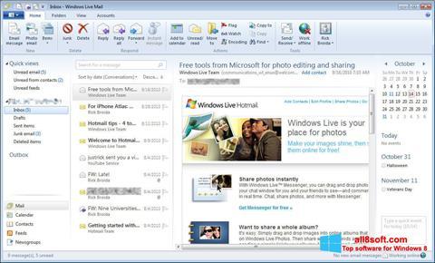 Skærmbillede Windows Live Mail Windows 8