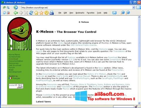 Skærmbillede K-Meleon Windows 8