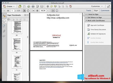 Skærmbillede Adobe Acrobat Windows 8