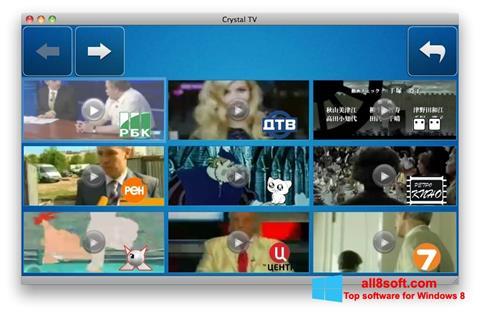Skærmbillede Crystal TV Windows 8