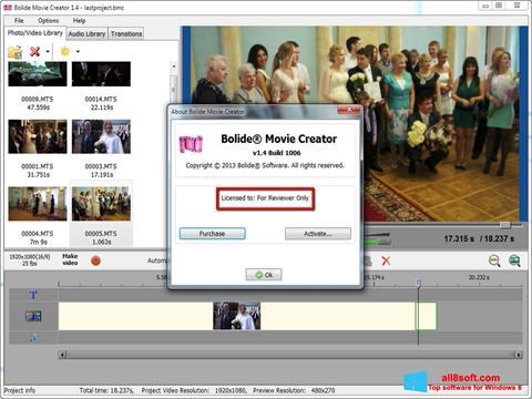 Skærmbillede Bolide Movie Creator Windows 8