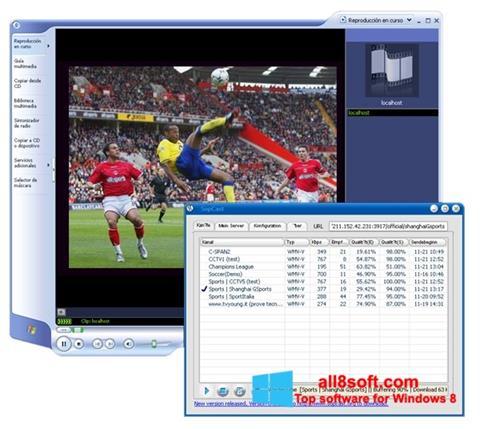 Skærmbillede SopCast Windows 8
