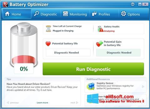 Skærmbillede Battery Optimizer Windows 8