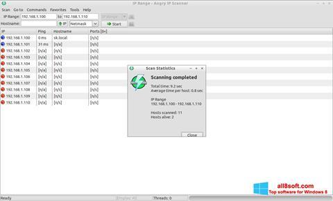 Skærmbillede Angry IP Scanner Windows 8