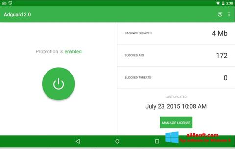Skærmbillede Adguard Windows 8