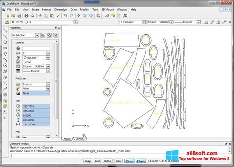 Skærmbillede DraftSight Windows 8