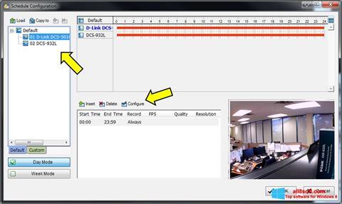 Skærmbillede D-ViewCam Windows 8